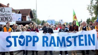 Photo of V Berlíne bola v sobotu demonštrácia za zrušenie americkej vojenskej základne Ramstein